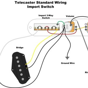 Vintage Telecaster Wiring Diagram - A Wealth Of Guitar Wiring Diagrams 6f