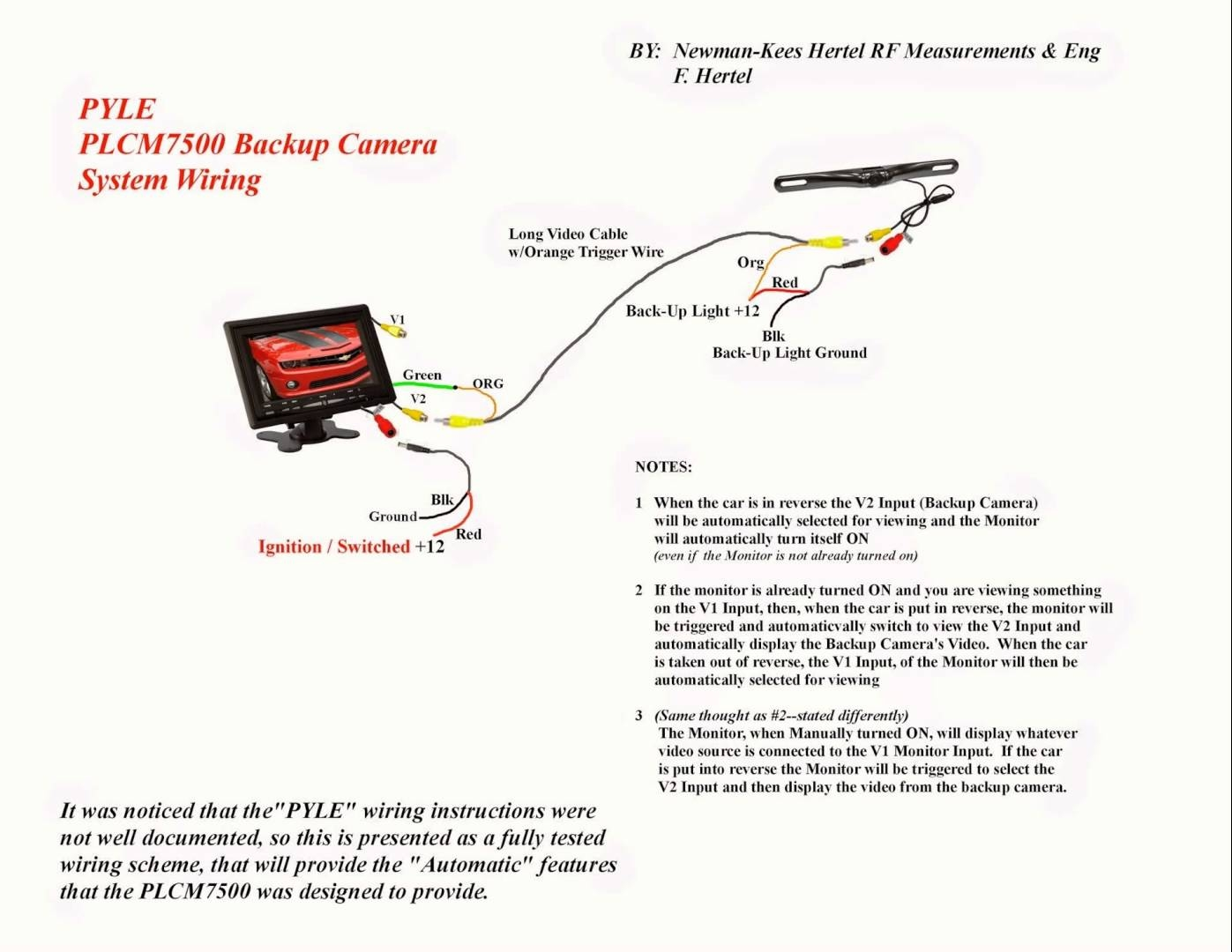 Voyager Backup Camera Wiring Diagram Free Schematics Best Schematic