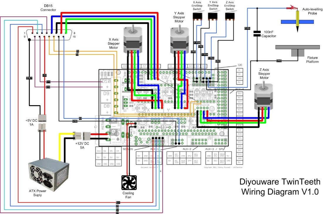 wantai stepper motor wiring diagram Collection-Wiring the electronics 16-g
