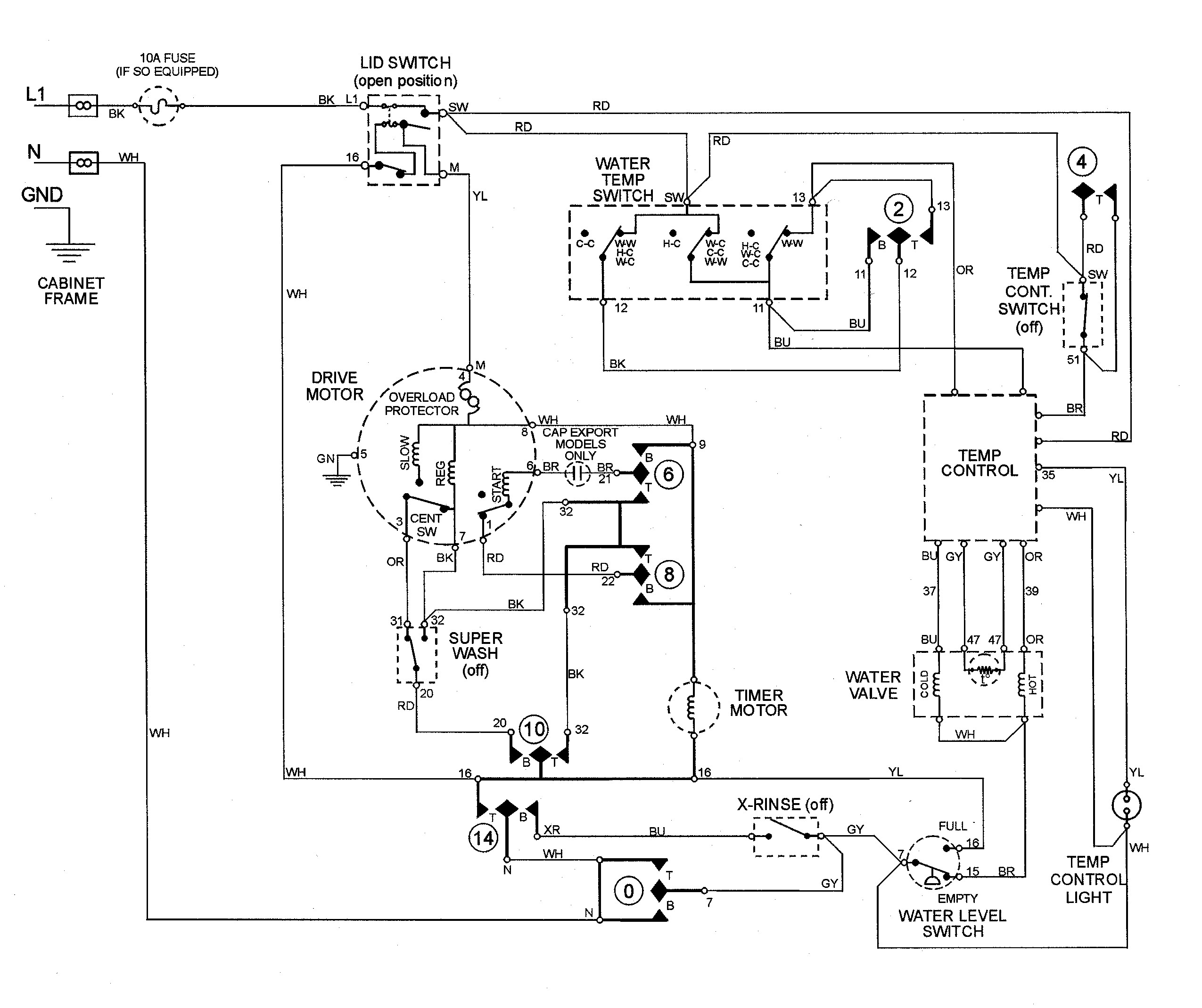 5 Wire Washing Machine Motor Wiring Diagram