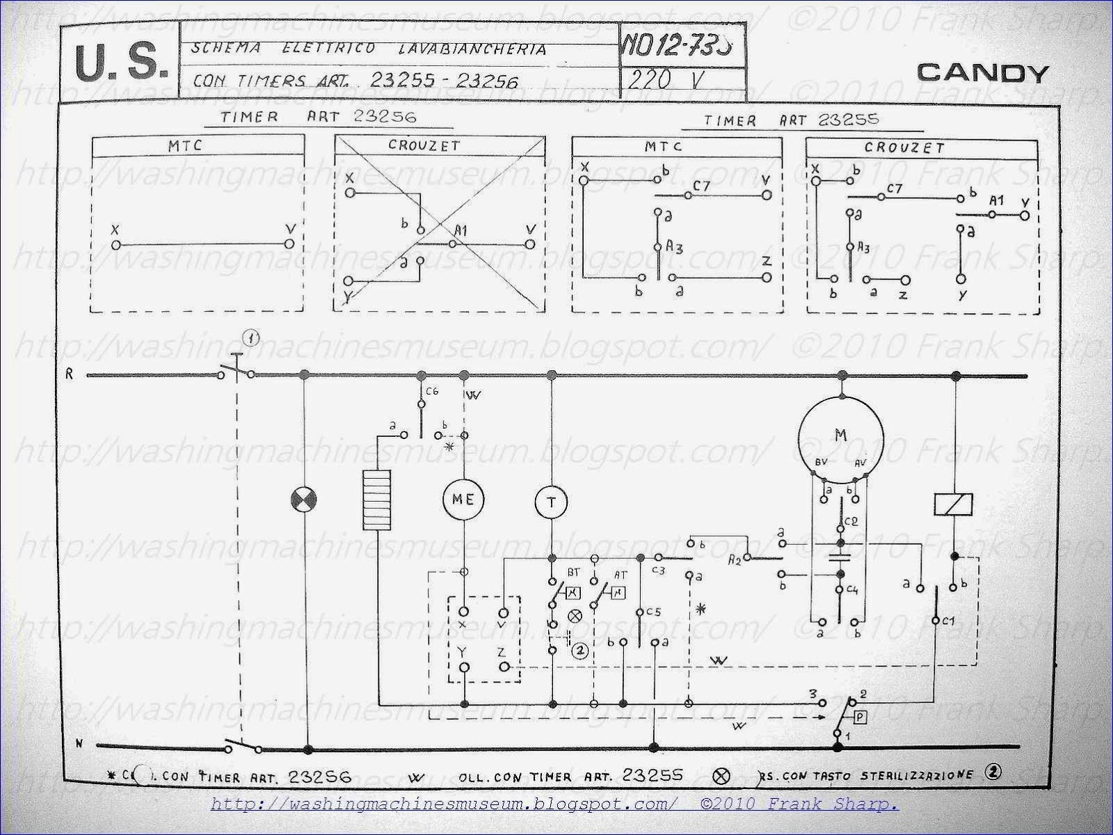 Washing Machine Wiring Diagram and Schematics - Wiring Diagram Appliance Dryer Inspirationa Washer Rama Museum Candy Washing Machine with Timer 6g