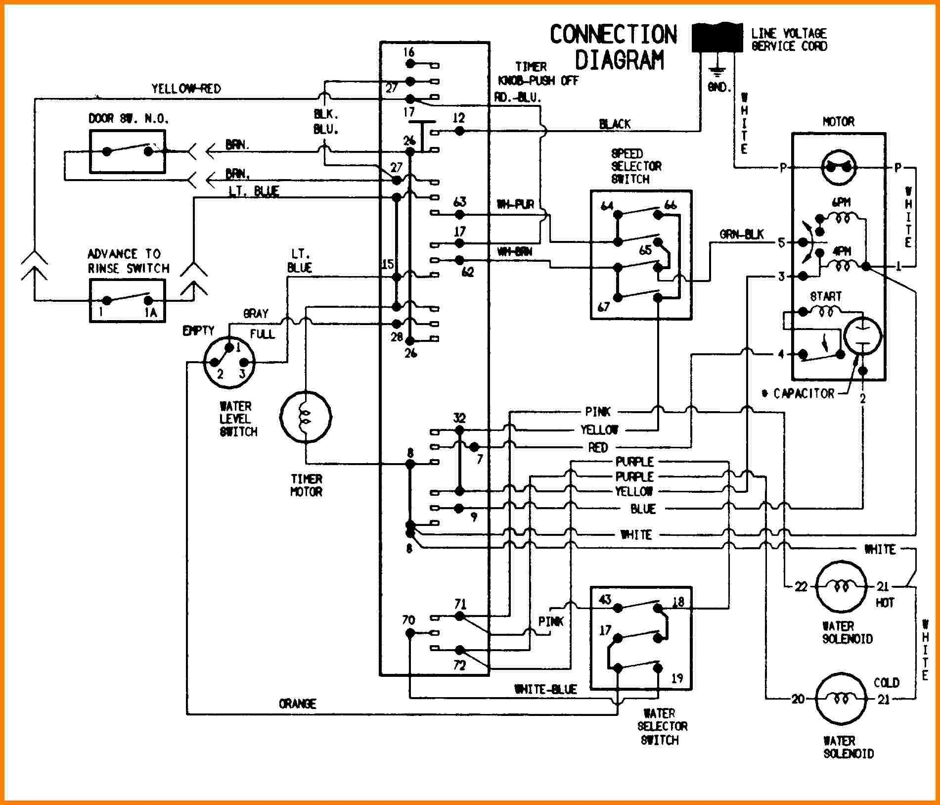 Washing Machine Wiring Diagram And Schematics