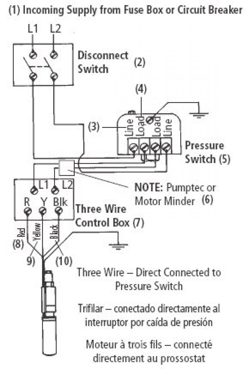 water pump 220 wiring diagram water pump switch wiring schematics