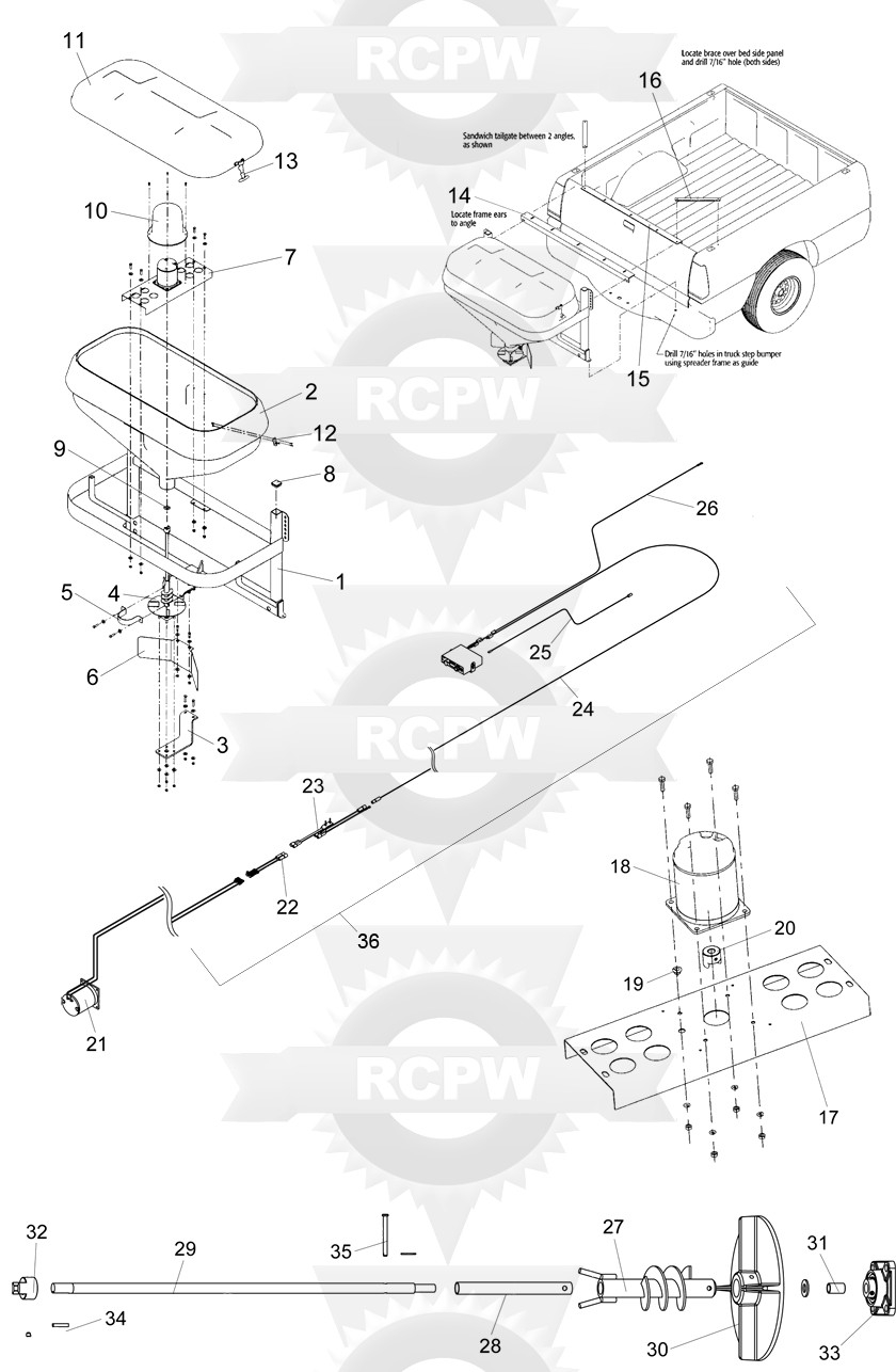 western 1000 salt spreader wiring diagram