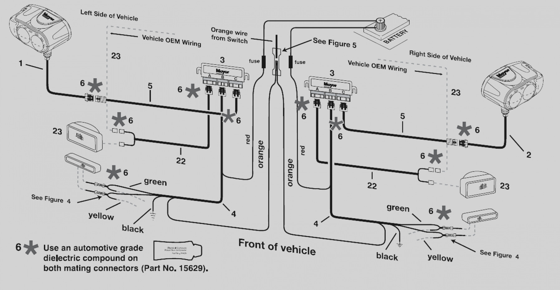 western snow plow relay wiring diagram