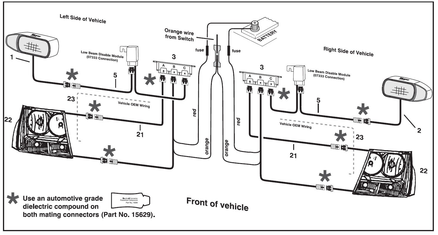 Western Snow Plows Wiring Diagram Headlights