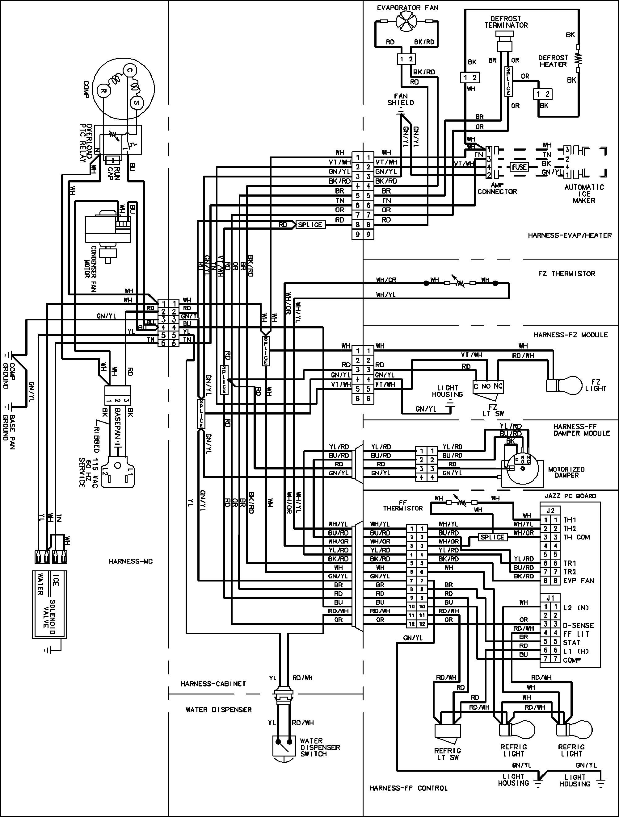 Whirlpool Refrigerator Wiring Schematic