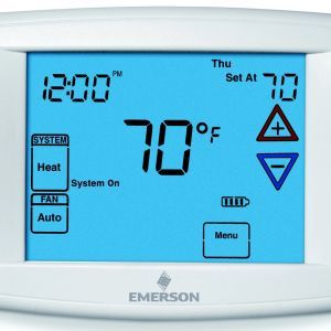 "White Rodgers thermostat Wiring Diagram 1f79 - Emerson Big Blue 12"" Display touchscreen Programmable Fan Remote Sensor Digital thermostat Range 45 99° F 13n"