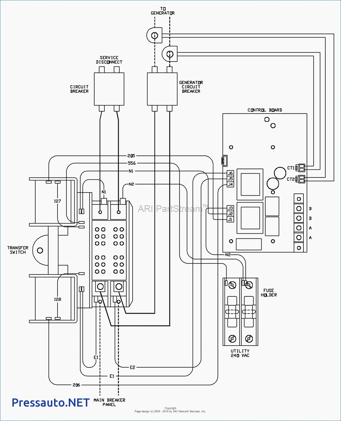 Whole House Generator Transfer Switch Wiring Diagram