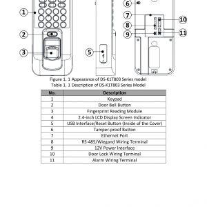 wiegand reader wiring diagram - door access control wiring diagram download  page 10 of k1t803mf fingerprint