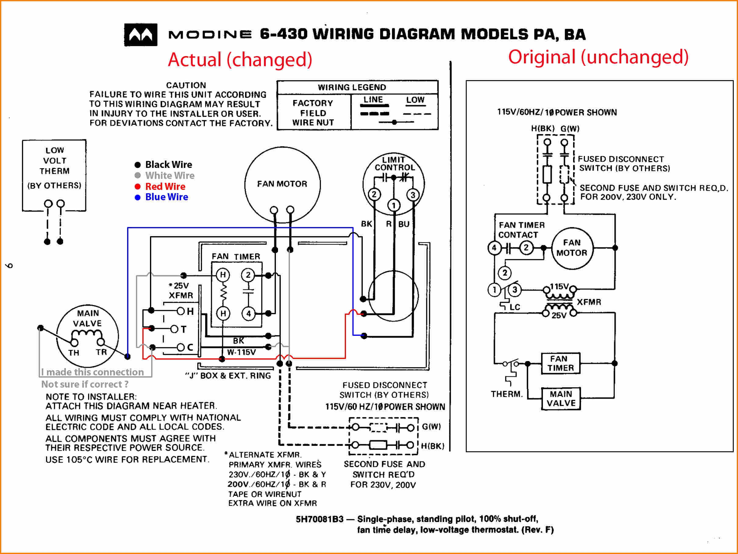 Williams Wall Furnace Wiring Diagram