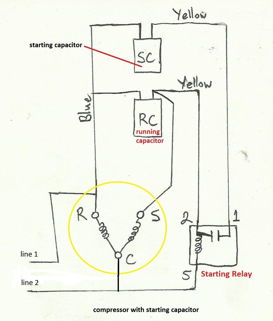 Wiring Diagram for Air Compressor Motor - Wiring Diagram for Air Pressor  Motor Air Pressor Capacitor