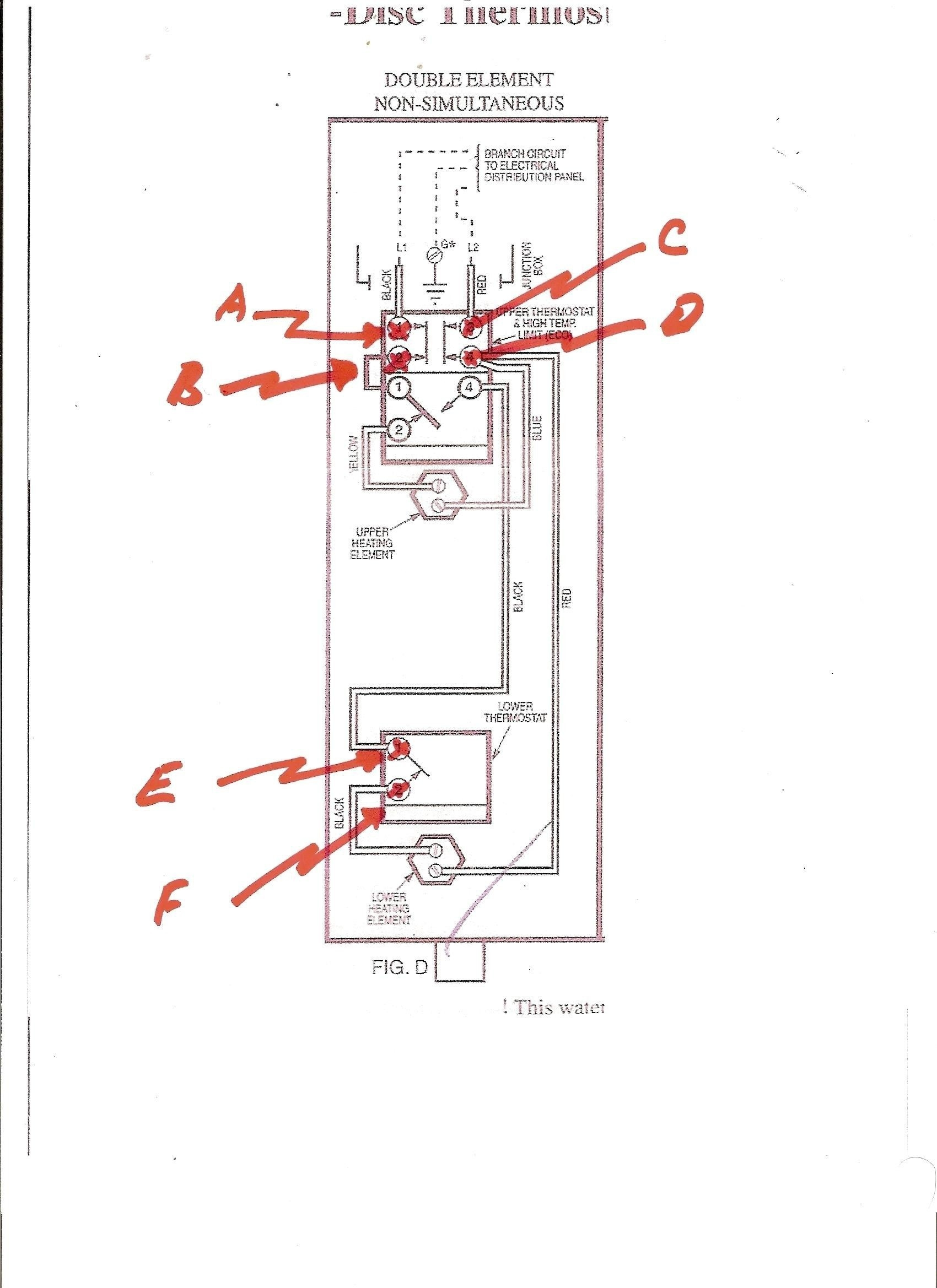 Wiring Diagram For Hot Water Heater Thermostat