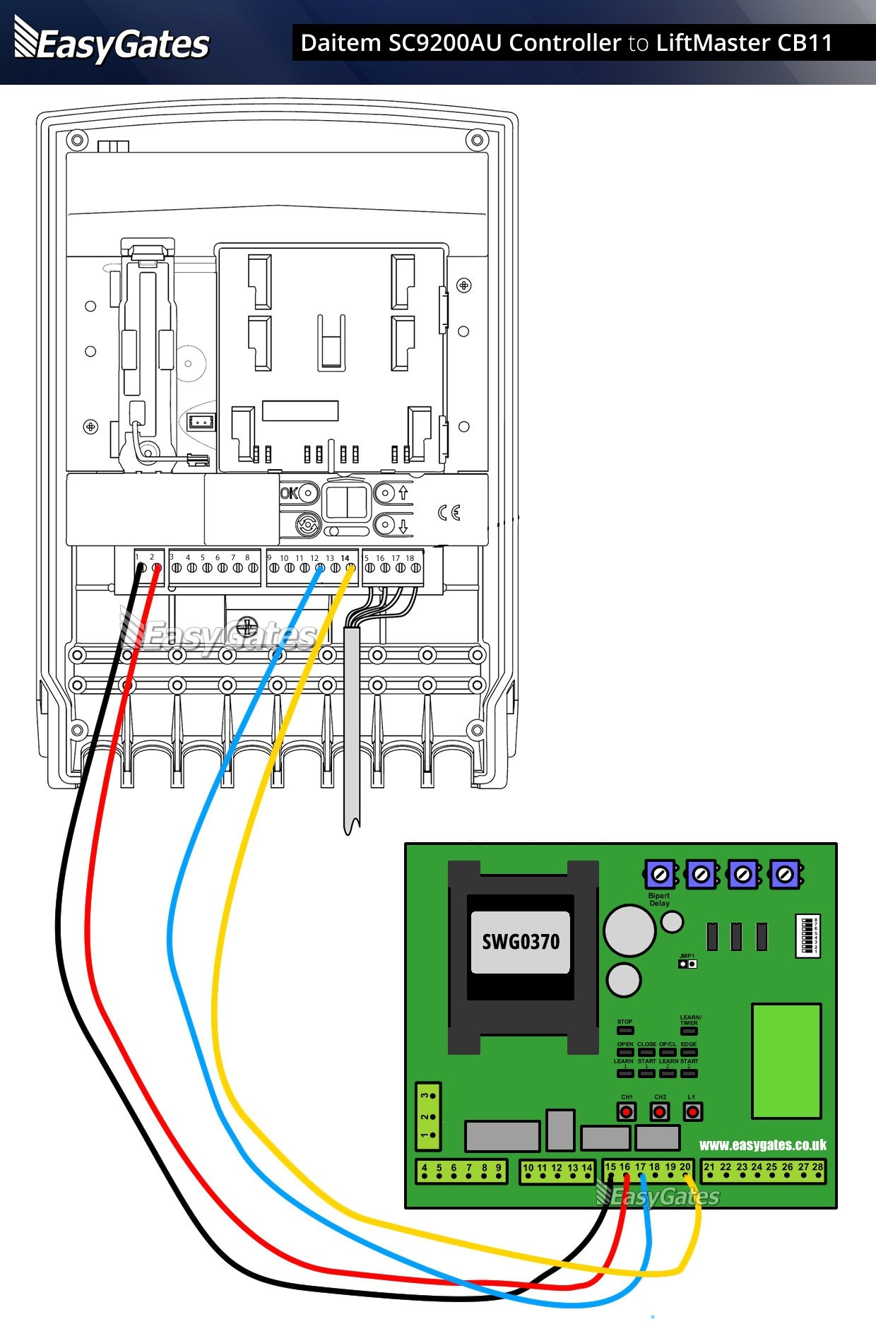 Wiring Diagram For Liftmaster Garage Door Opener