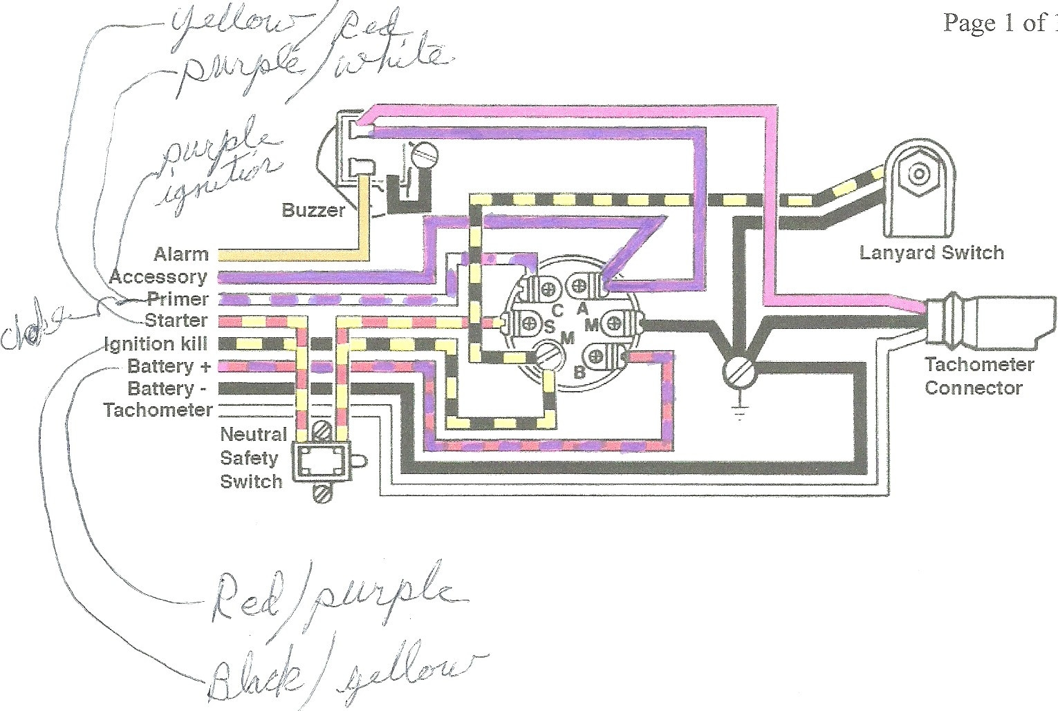 1974 Mercury Outboard Ignition Switch Wiring Diagram Wiring Diagram