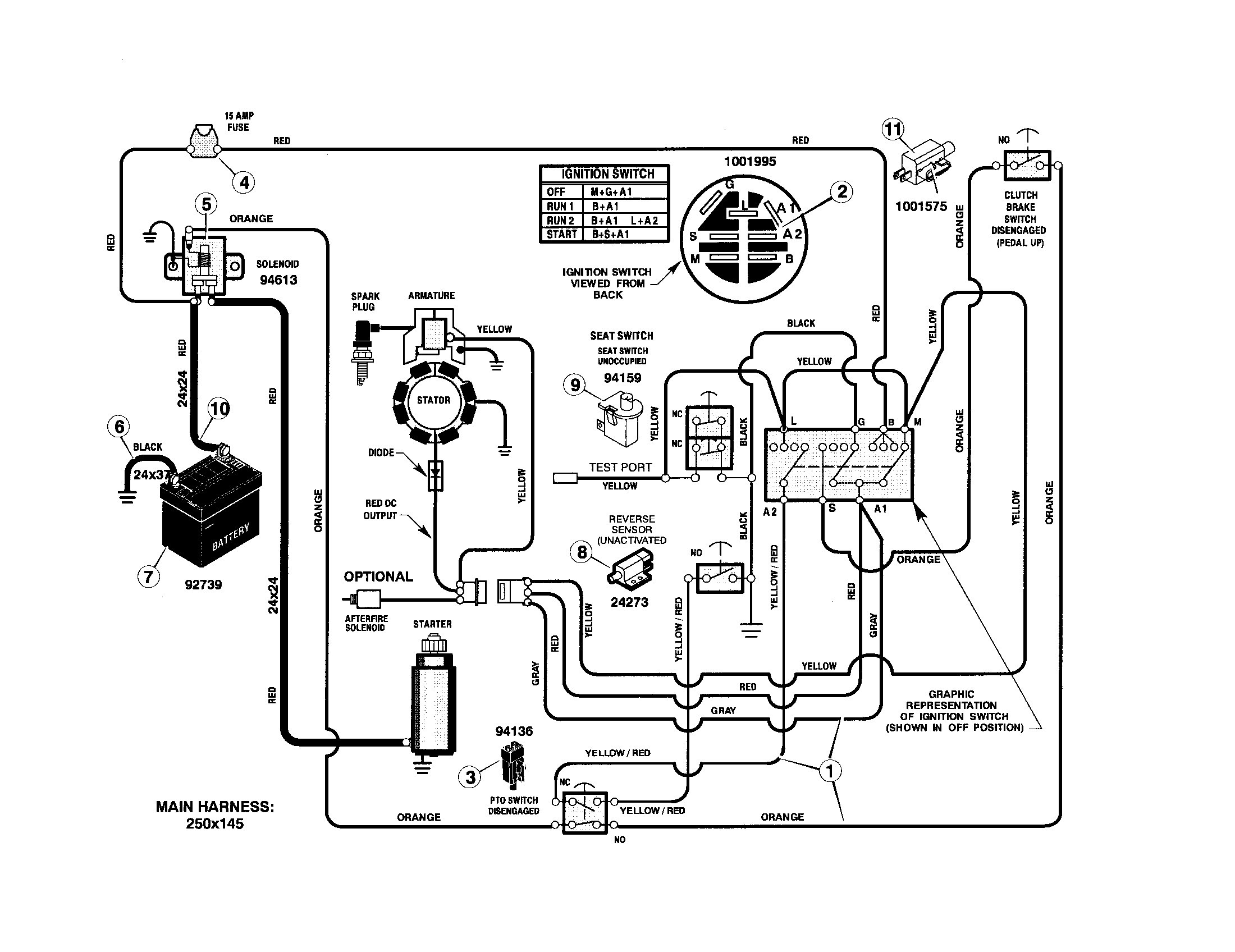 murray riding mower wiring diagram murray lawn mower wiring diagram