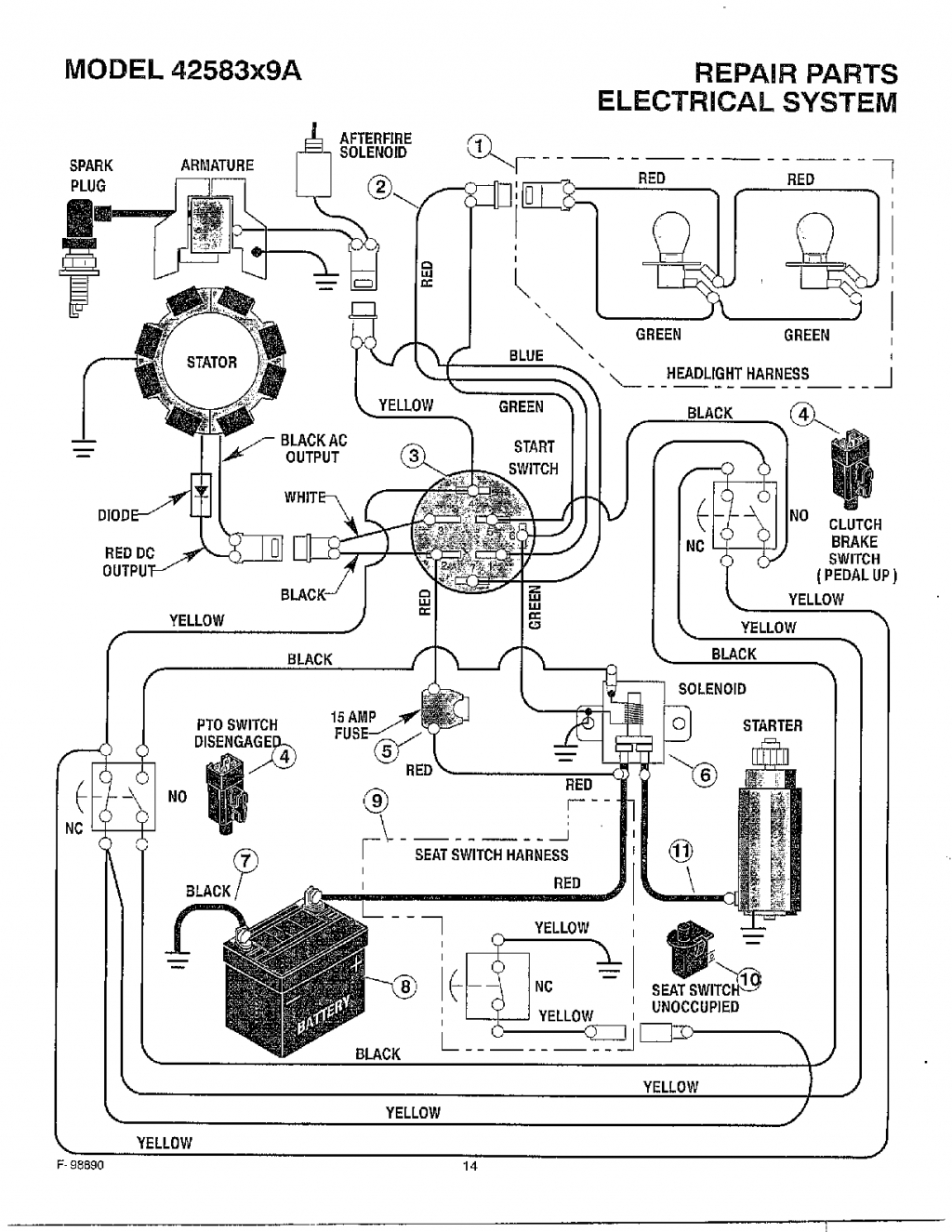 murray lawn mower starter wiring diagram wiring diagram for murray riding lawn mower solenoid ... lawn mower switch wiring diagram