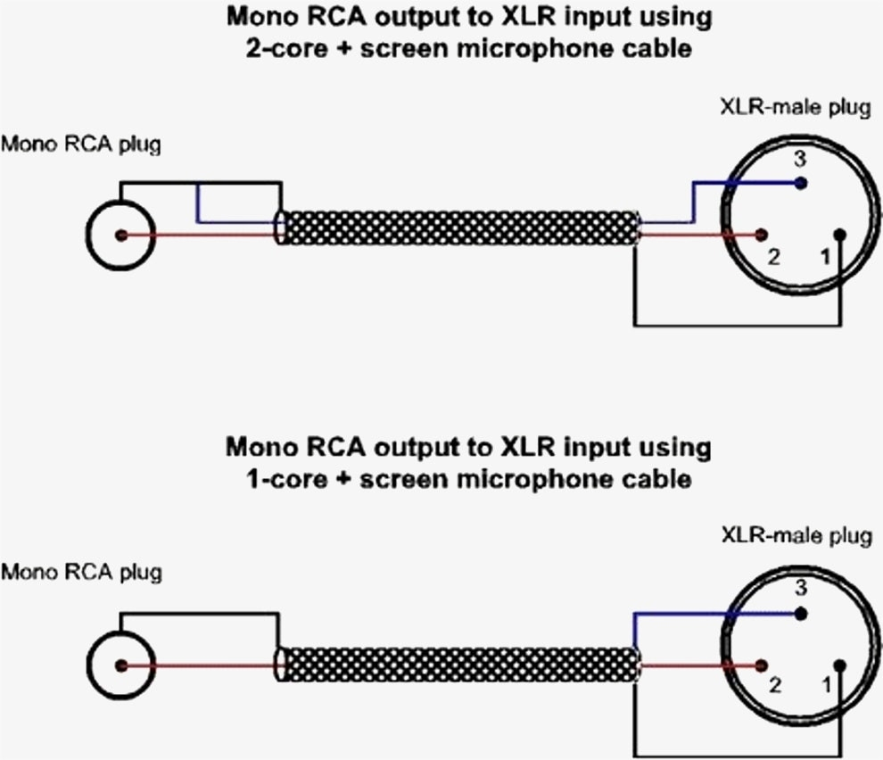 Xlr To Mono Jack Wiring Diagram