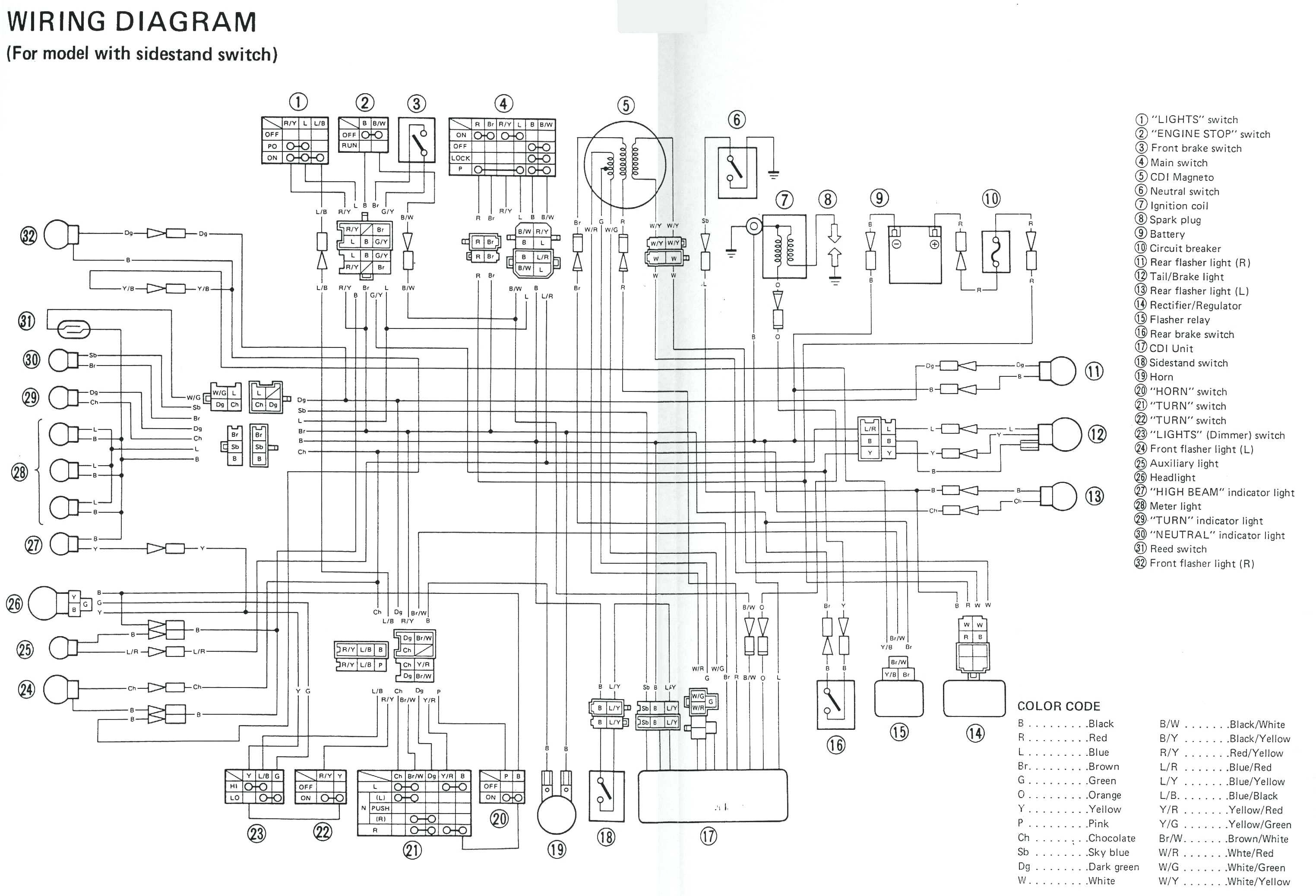 Xs1100 Wiring Diagram | Wiring Diagram on