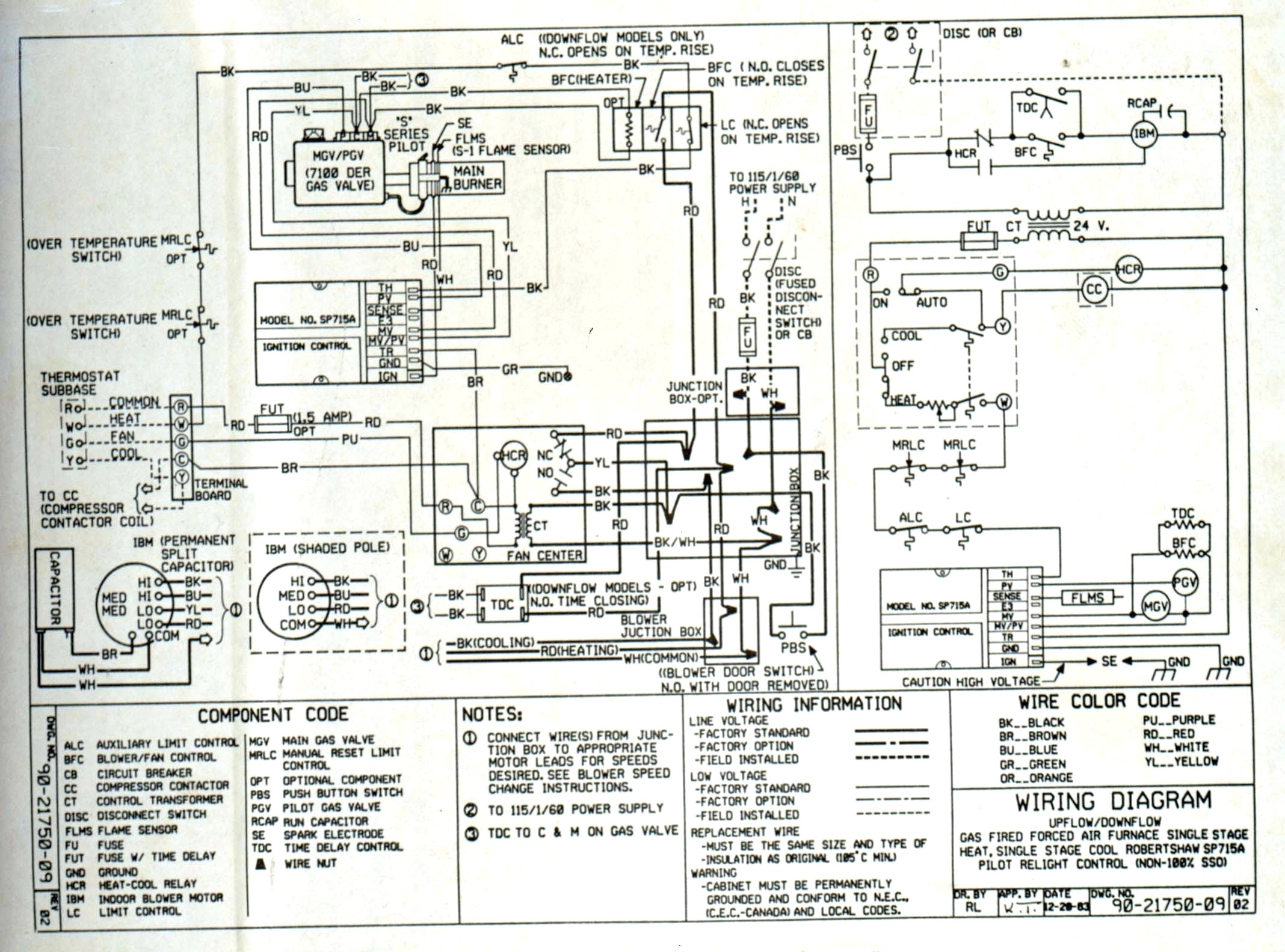 trane rooftop hvac wiring diagrams wiring diagram